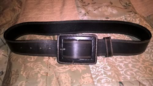 Banana Republic Belt size XS Leather Black Smooth Leather Black Buckle