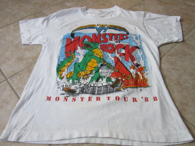 Monsters of Rock Tour 1988 White T shirt