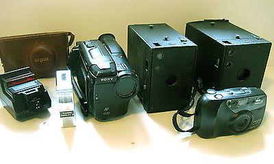 LOT OF 4 CAMERAS AND ACCESSORIES