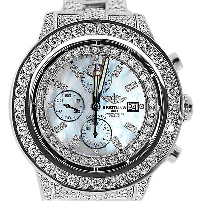 Breitling Super Avenger Chronograph App. 20 Carats of Diamonds Watch