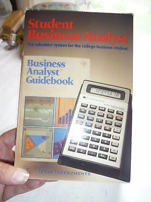 Vintage calculator and business analyst guidebook by Texas Instruments