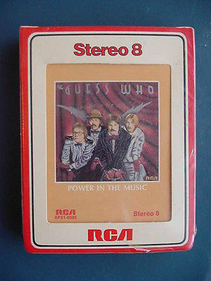 THE GUESS  WHO POWER IN THE MUSIC STEREO 8 TRACK TAPE  FACTORY SEALED RCA