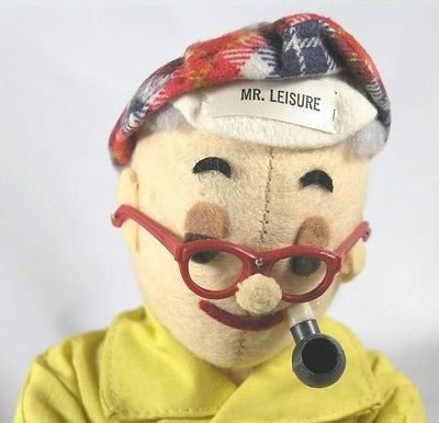 Mr. Leisure Plays Cards - Rare Doll Adorable