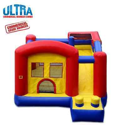 Commercial Grade/Large Inflatable Climbing Wall and Slide Safe Bounce House