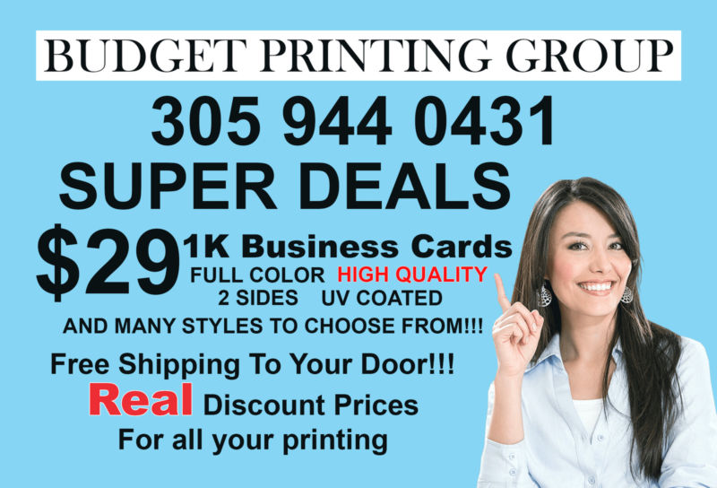 1,000 Business Cards High Quality Full Color 2 Sided on 16pt
