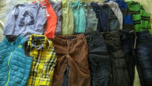 Huge Lot of GAP, J. Crew, Ralph Lauren, North Face Toddler Boy Clothing, 3T EUC