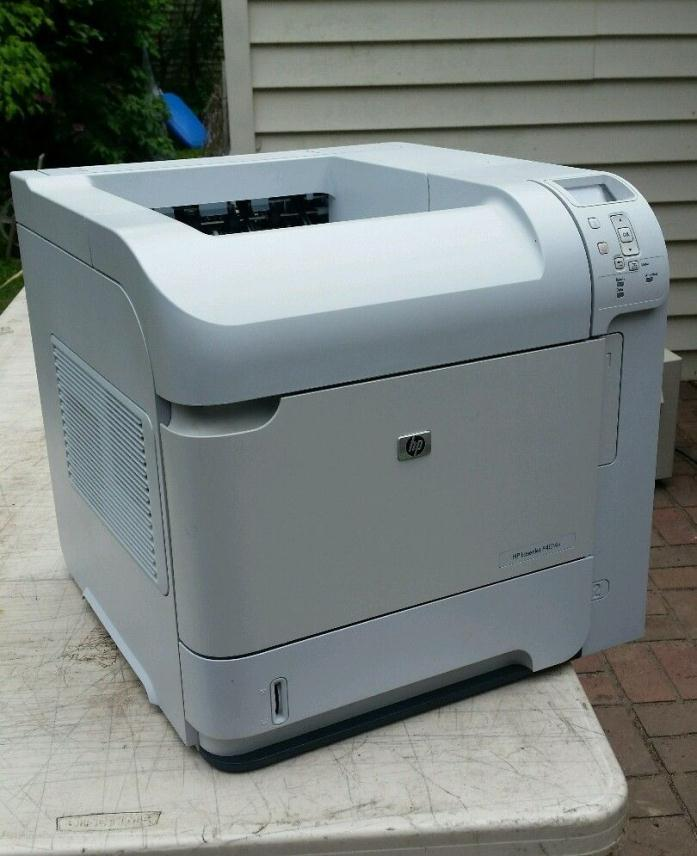 HP LaserJet P4014n Laser Printer Works Good Used Condition