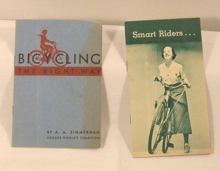 Two Antique Bicycling Booklets RARE 1936