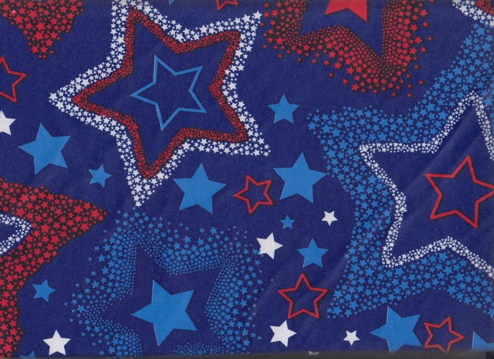 PATRIOTIC Americana Stars USA Election Day July 4th Vinyl Tablecloth 52