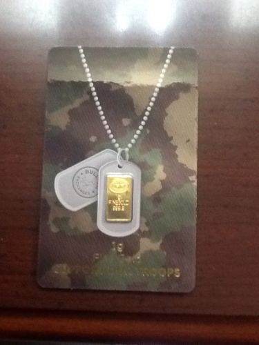 One Gram Fine 999.9 Gold Bar Sealed and New