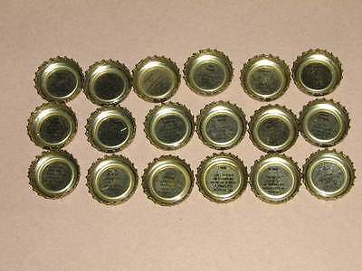 18 Montreal Canadians beer bottle caps French Quiz 1987