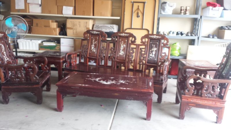 __**Mother of Pearl inlay Chinese furniture set