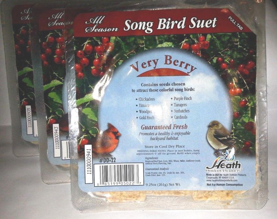 3 PACKS ALL SEASON SONGBIRD SUET CAKE