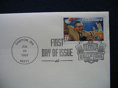 Vince Lombardi Legendary Football Coaches 22kt Gold GOLDEN replica Cover STAMP
