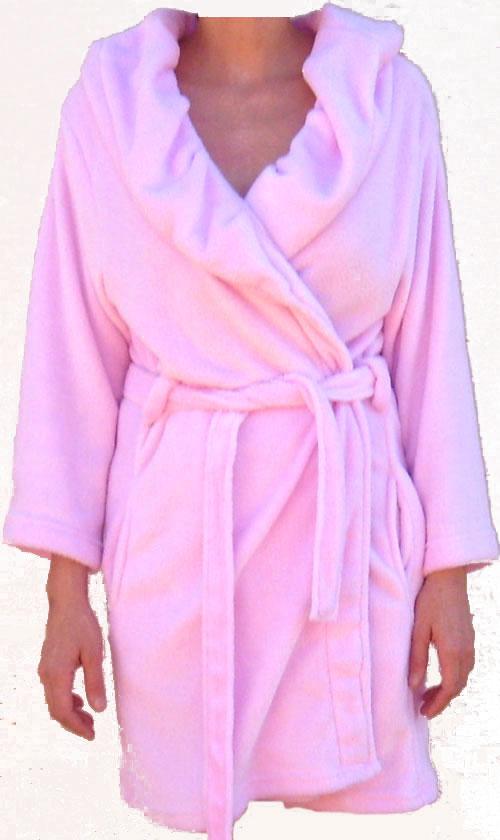Womens Luxury Pink Robe (SMALL MEDIUM)
