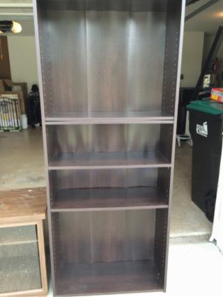 Brown Adjustable Bookcase