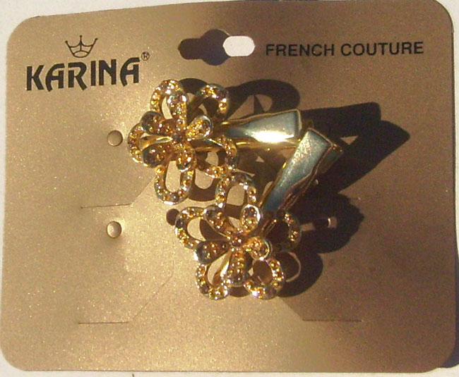 Karina French Couture Salon 2 Hair Clips -GOLDEN