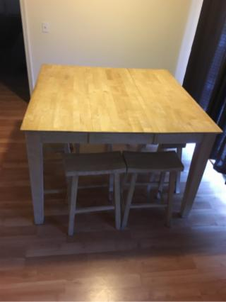 Real Wood Table Set