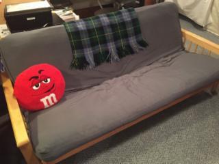 Futon Couch, Chair, Ottoman Set