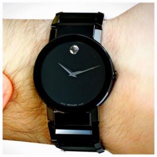Men's MOVADO Black Saphire Watch