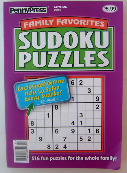 Family Favorites Sudoku Puzzles Autumn 2010 PennyPress
