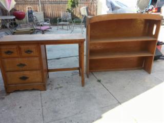 Desk and book shelf