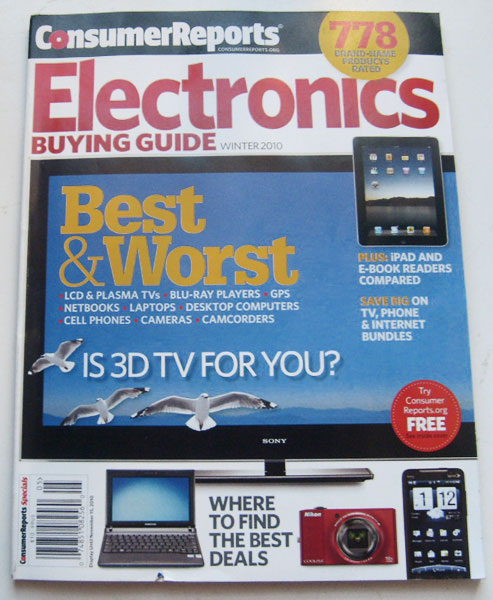 Electronics Buying Guide [url removed] Winter 2010 Best & Worst TVs