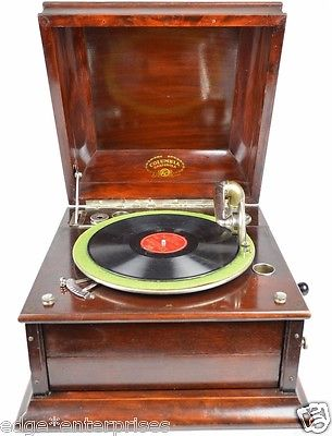 Antique Columbia Grafonola Table Top Phonograph Victrola Record Player c.1915