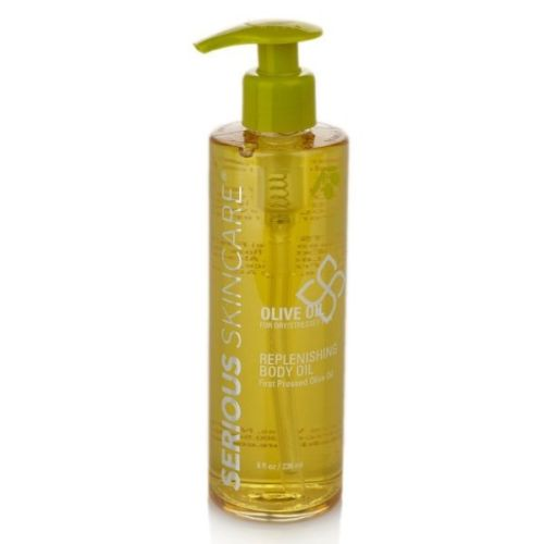 New Serious SkinCare First Pressed Olive Oil Replenishing Body Oil 8 oz