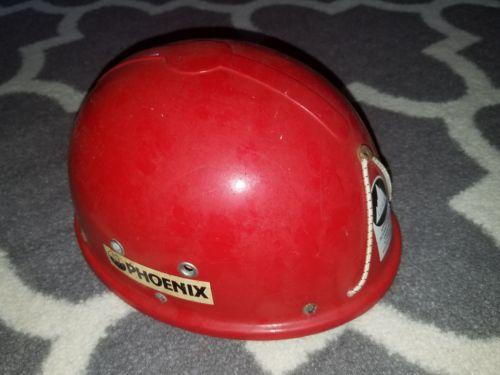 Vintage Red PHOENIX Cap Rock Climbing Helmet UIAA