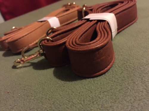 Fashion Leather Cross body Bag Purse Replacement Strap Lot Of 2 Brown Tan