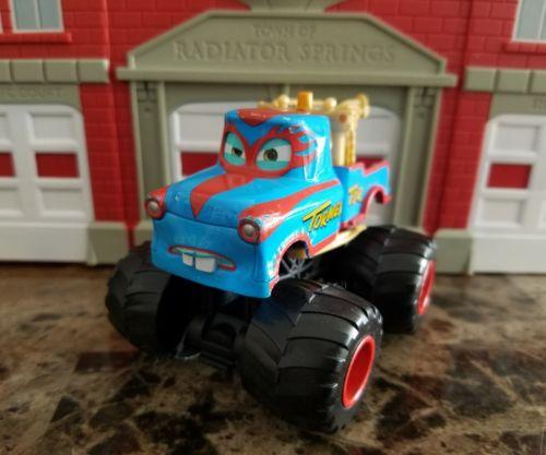 Mattel Disney Pixar Toon Cars TORMENTOR 4x4 Monster Tow Truck Power Punch Action