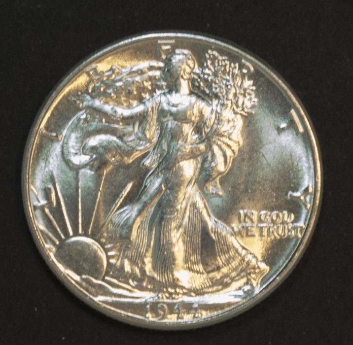 1944 (P) Philadelphia Walking Liberty Silver Half Dollar 50 Cent BU