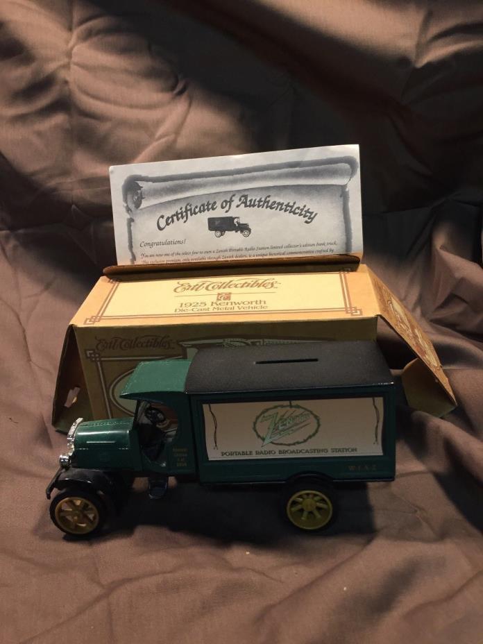 NIOB Ertl Collectibles 1/34 1925 Kenworth 2 Ton Truck Zenith Toy Bank & Key