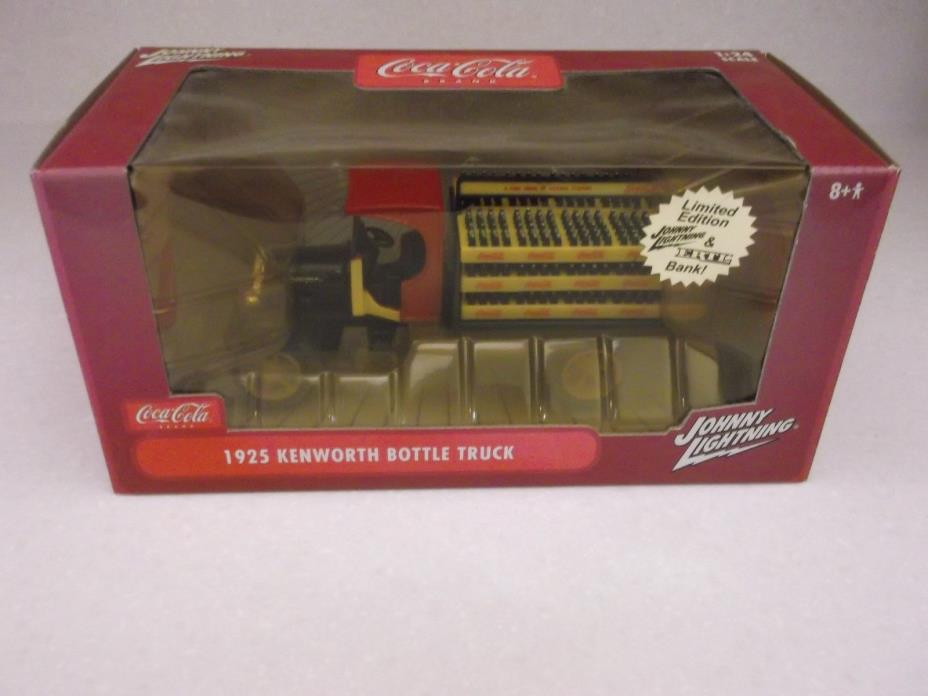 COCA COLA BOTTLE DELIVERY TRUCK 1925 KENWORTH DIE CAST COIN BANK