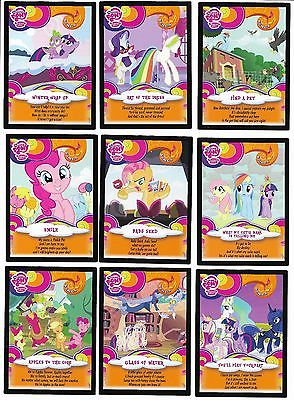 MLP Trading Cards Series 3 Songs Sweeptakes Cards  Trading Card 9 Set!