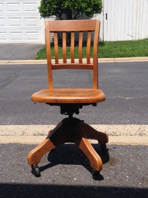 Vintage Rolling Desk Chair Made By The Milwaukee Chair Company