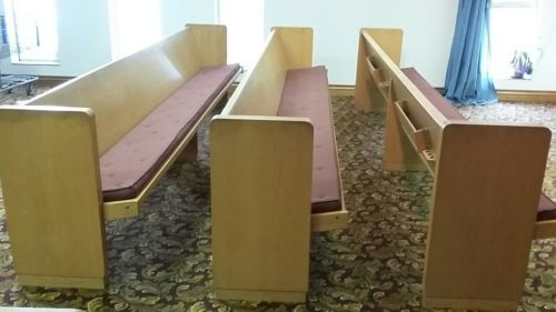 12 ft solid wood church pew with cushions 15 available