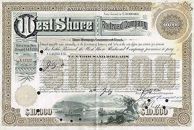 USA WEST SHORE RAILROAD COMPANY stock certificate $10,000