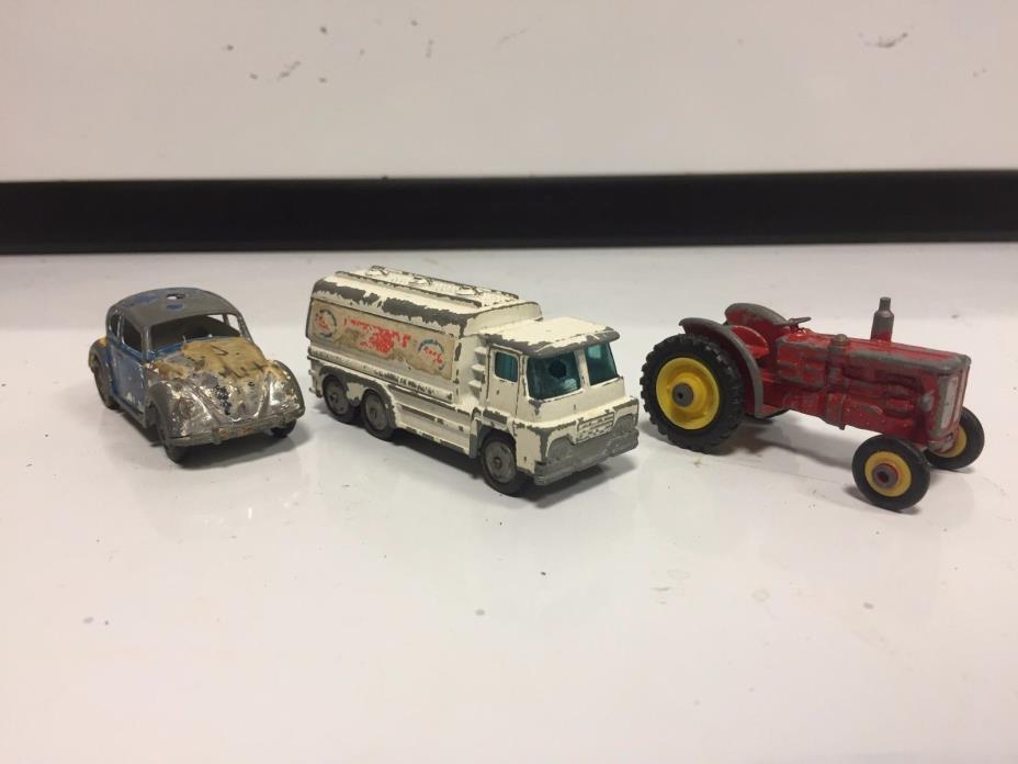 3 Vintage metal Husky toy cars / trucks