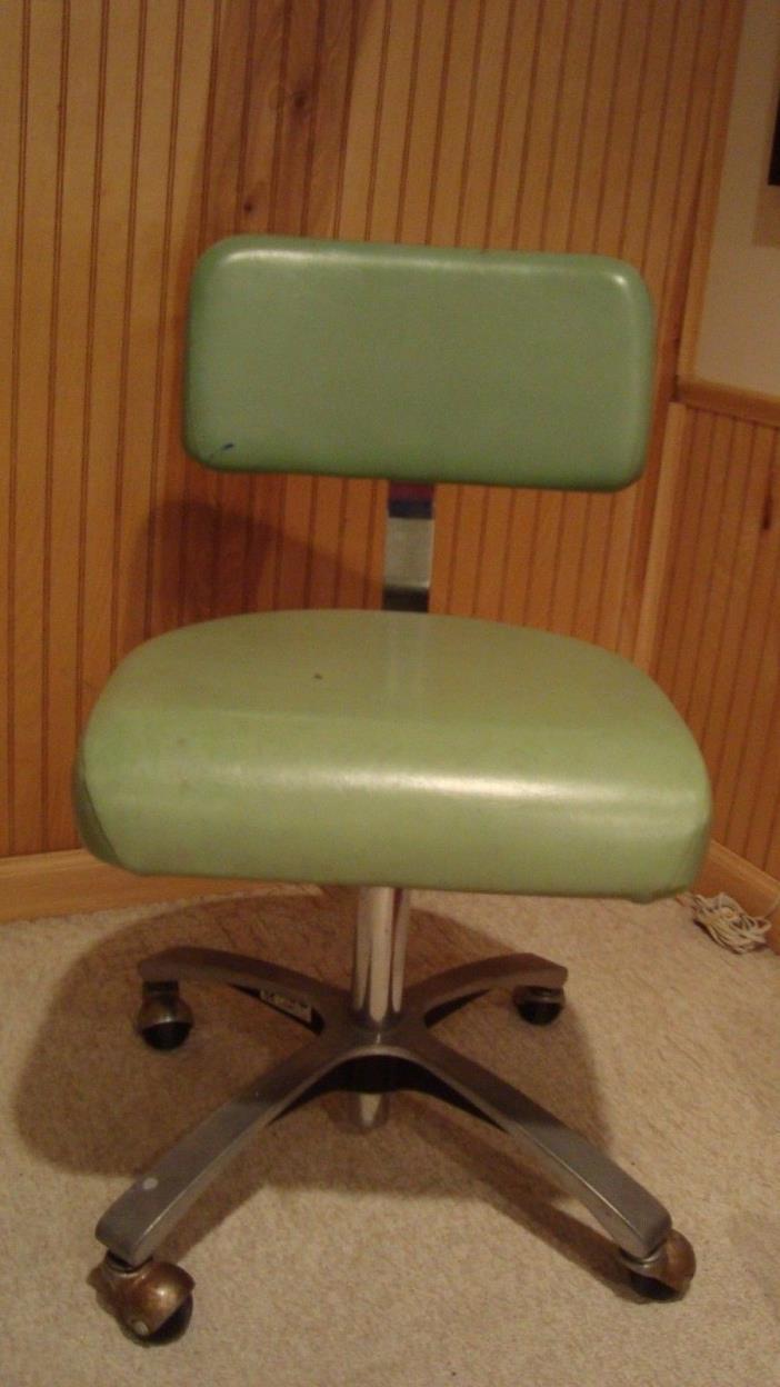 Vintage Mid Century Modern Swivel Industrial Medical/Dental Chair /Stool