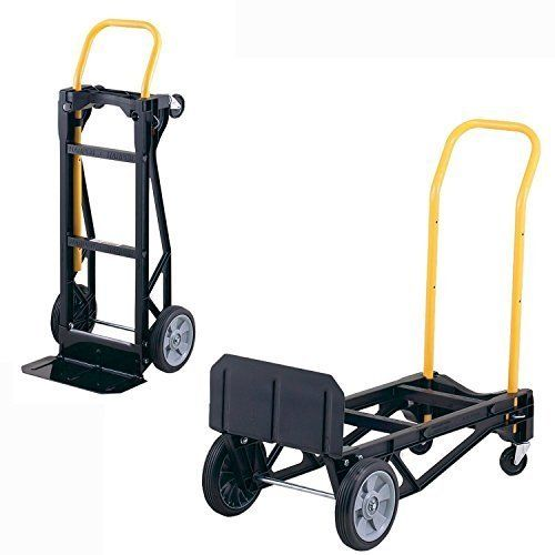 Hand Truck + Dolly Lightweight Convertable 400 lb Capacity Dolly Folding Cart