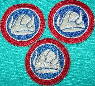 47th Infantry Division U.S. Army 3 Unit Patches Viking Helmet Korean Vietnam War