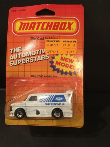 VTG (1985) Matchbox No. MB6 Ford Racing Supervan II- Automotive Superstars (NOS)