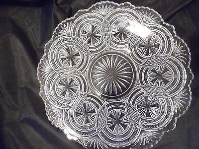 pressed glass plate 7 7/8