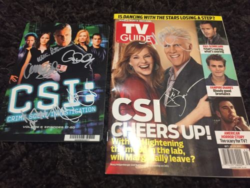 CSI cast signed William Petersen Marg Helgenberger jorja George Eads Ted Danson