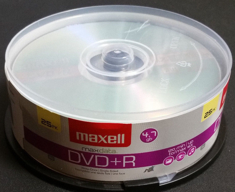 Maxell DVD + R 4.7 gb Max Data Blank Recording Disks 23 Count CD