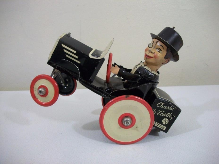 Vintage Marx Charlie McCarthy Crazy Car Windup Red Version