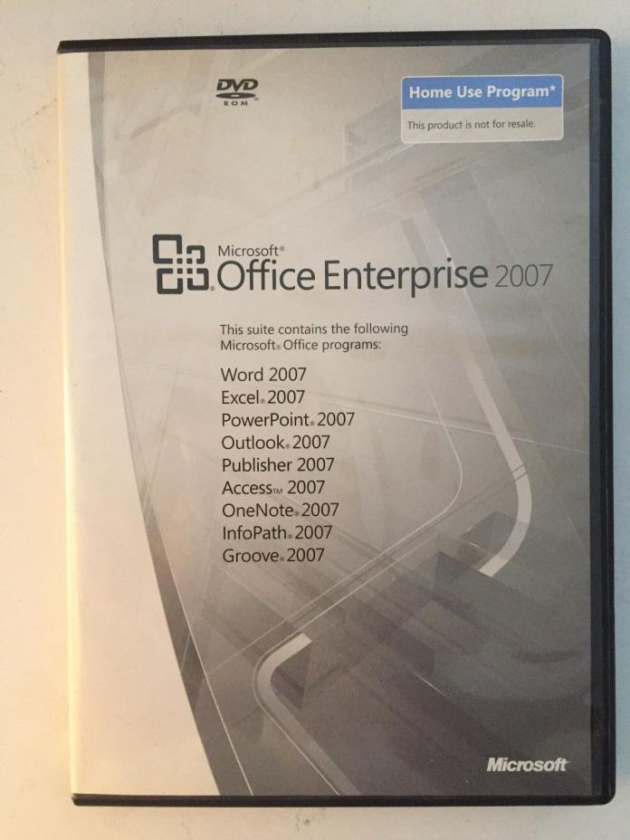 Microsoft Office Enterprise 2007 Full Version Windows Word Excel PPoint Outlook