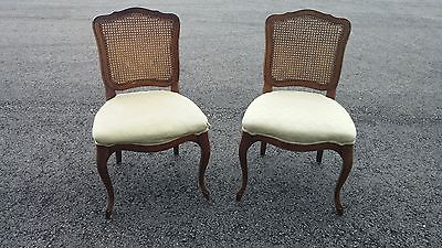 2 FRENCH DINING CHAIRS - PRE-OWNED